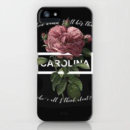 Harry Styles Carolina graphic artwork iPhone Case
