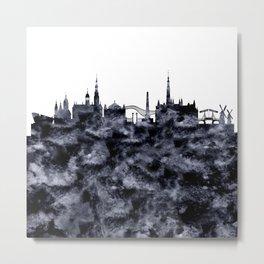 Amsterdam City Skyline Metal Print