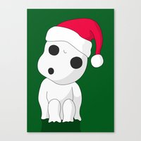 kodama Canvas Prints featuring Christmas Kodama by pkarnold + The Cult Print Shop