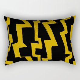 Thunder and abstraction 5-thunderbolt,thunder,storm,fire,ligthning,electric,rumble Rectangular Pillow