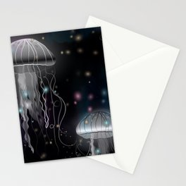 Night Jellyfish Stationery Cards