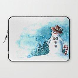 It's snowing, snowman! Laptop Sleeve
