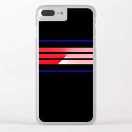 Team Colors 5...Red,blue Clear iPhone Case