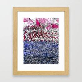 The angry sea Framed Art Print