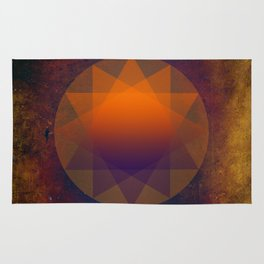 Merkaba, Abstract Geometric Shapes Rug