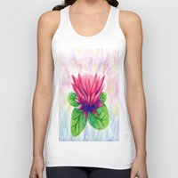 lotus flower Tank Tops featuring Lotus by Lala