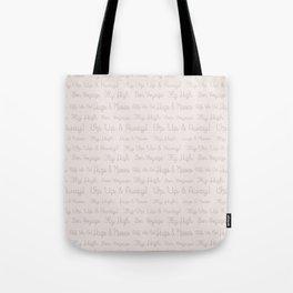 Modern pastel brown soft pink travel typography Tote Bag