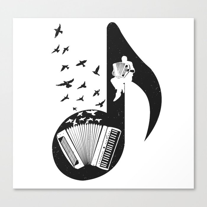 Musical - Accordion Leinwanddruck
