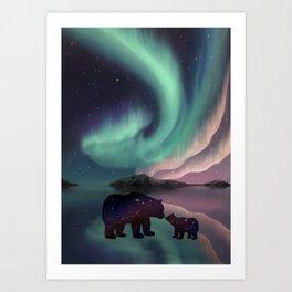 Aurora Bearealis  Art Print