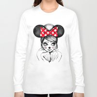 minnie mouse Long Sleeve T-shirts featuring Minnie by theavengerbutterfly