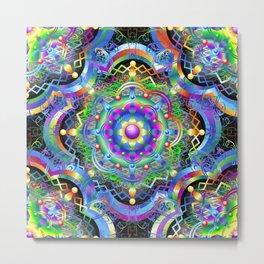 Mandala Psychedelic Art Design Metal Print