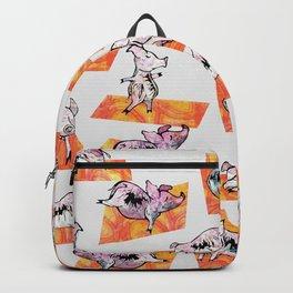 Orange Yoga Pigs - Downward Facing Hog Backpack