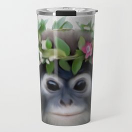 Baby Monkey , Baby Monkey Wall Art, Baby Animal Prints, Baby Monkey  Travel Mug