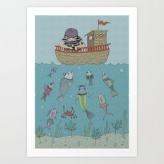 At The Sea Art Print
