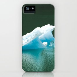 Blue Ice Swan Floating in Alaskan Waters iPhone Case