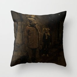 Scarecrow King and his Queen Throw Pillow
