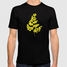 Spring Yellow Black Mens Fitted Tee MEDIUM