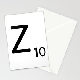 Letter Z - Custom Scrabble Letter Tile Art - Scrabble Z Initial Stationery Cards