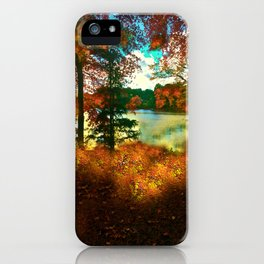 Trees and Shadows in New England iPhone Case