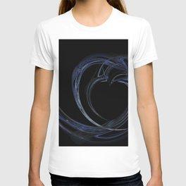 Fractal 6 Dark Blue Heart T-shirt
