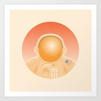 spaceman Art Prints featuring Spaceman by M. Gulin