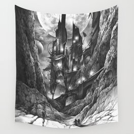 City in the far future Wall Tapestry