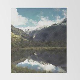 (Franz Josef Glacier) Where the snow melts Throw Blanket