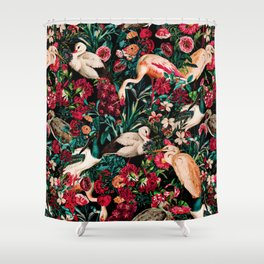 Long Leggend Birds II Shower Curtain