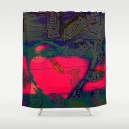 With All my Heart Remix Shower Curtain