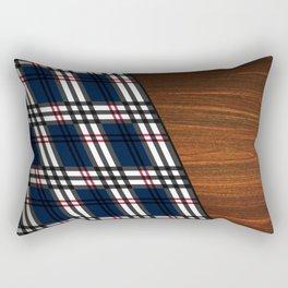 Wooden Scottish Tartan Rectangular Pillow