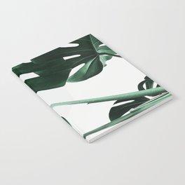 Monstera, Leaves, Plant, Green, Scandinavian, Minimal, Modern, Wall art Notebook