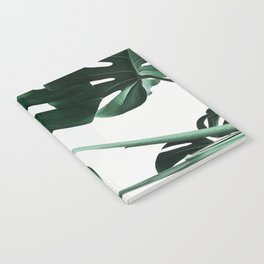 Monstera, Leaves, Plant, Green, Scandinavian, Minimal, Modern, Wall art Notebook