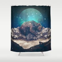jazzberry Shower Curtains featuring Under the Stars (Ursa Major) by soaring anchor designs