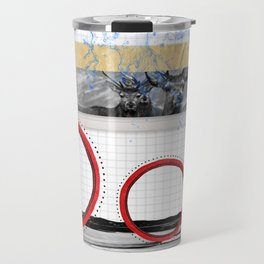 The Stags on the hill collage Travel Mug