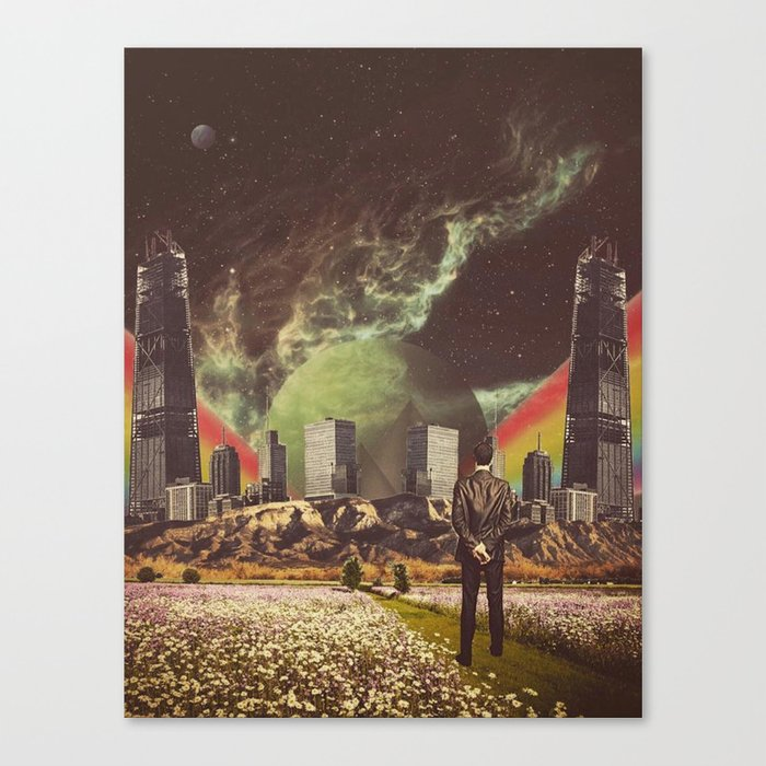 Brave New Worlds Canvas Print