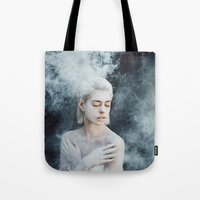 illusion Tote Bags featuring Illusion by Jovana Rikalo