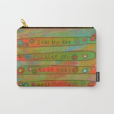 Positive Logger - Longboard Surfboards - Happy Surfers Carry-All Pouch