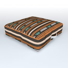 Colorful hand drawn horizontal stripes pattern. Outdoor Floor Cushion
