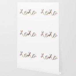 Rose gold XOXO Wallpaper