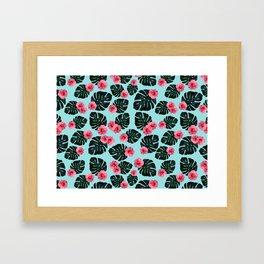 Tropical pattern n.1 - pale blue Framed Art Print