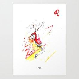 Leaping Leo Art Print