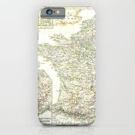 Vintage Map - Spruner-Menke Handatlas (1880) - 52 France 1180 - 1461 iPhone Case