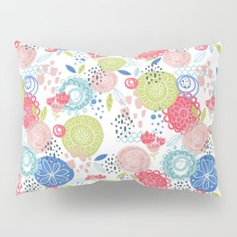 Abstract Happy Floral Pillow Sham