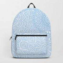 Blue Mandala Design Extra Detailed Geometric Ethnic Tribal Pattern Backpack