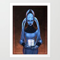 fifth element Art Prints featuring The Fifth Element: Plavalaguna by Gunkiss