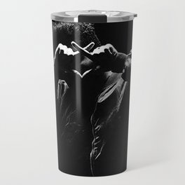 The.Weeknd Portrait black and white Travel Mug