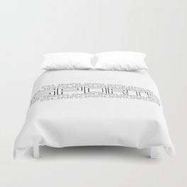 Run for relaxation, pleasure, health... white Duvet Cover