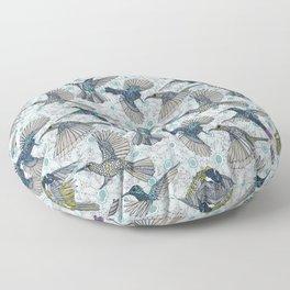 hum sun honey birds blue Floor Pillow