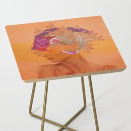 Woman in flowers III Side Table
