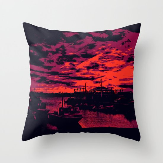 Sunset Over Bristol Harbor 2 Throw Pillow